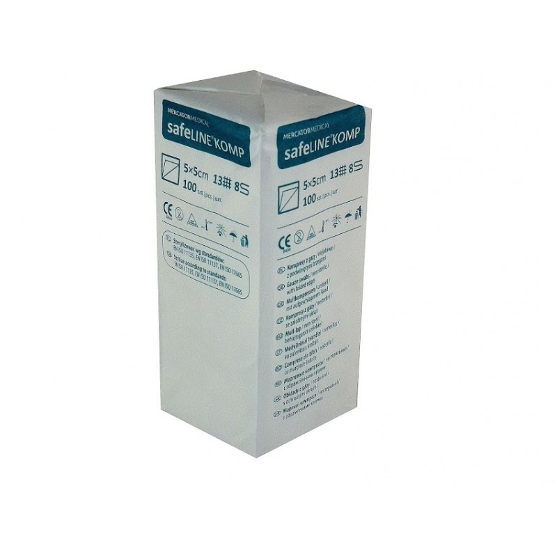 Kompres z gazy Safeline Komp 5 cm x 5 cm (100szt)